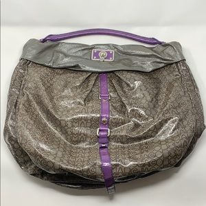 Marc by Marc Jacobs Leather Hobo Bag Gray/Purple